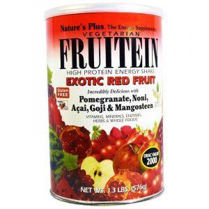 Фруитеин, Fruitein Energy Shake, экзотические фрукты, Nature's Plus, 576 г (Default)