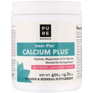 Кальций+ (малиновый лимонад), Calcium Plus, Pure Essence, 420 г. (Default)