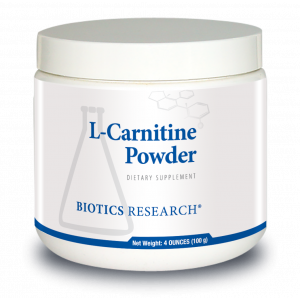 L-карнитин, L-Carnitine Powder, Biotics Research, 100 г.