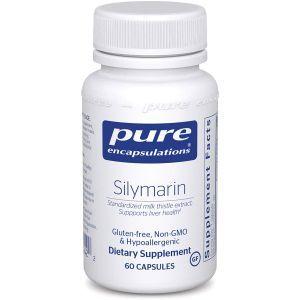 Силимарин, Silymarin, Pure Encapsulations, 60 капсул