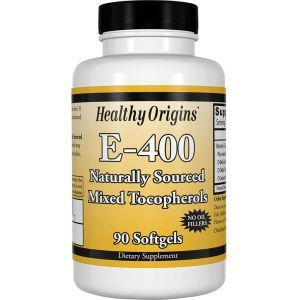 Витамин Е, Vitamin E, Healthy Origins, 400 МЕ, 90 капсул