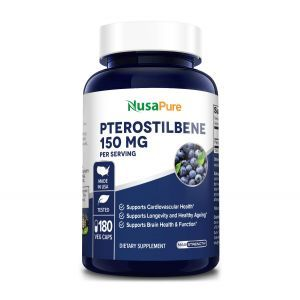 Птеростильбен, Pterostilbene, NusaPure, 150 мг, 180 вегетарианских капсул