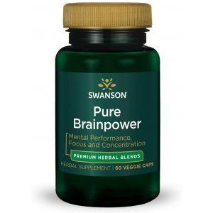 Улучшение памяти и работы мозга, Ultra Pure Brainpower, Swanson, 60 вегетарианских капсул