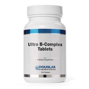 В комплекс ультра с высоким содержанием биотина, Ultra B-Complex, Douglas Laboratories, 100 таблеток