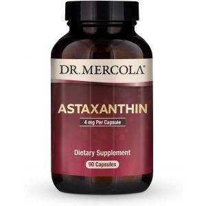 Астаксантин, Astaxanthin, Dr. Mercola, 4 мг, 90 капсул