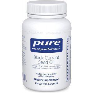 Масло семян черной смородины, Black Currant Seed Oil, Pure Encapsulations, 100 капсул