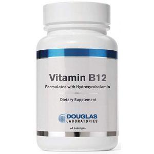 Витамин В12 гидроксикабаламин, Vitamin B12, Douglas Laboratories, 60 жевательных таблеток