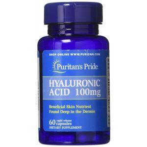Гиалуроновая кислота, Hyaluronic Acid, Puritan's Pride, 100 мг, 60 капсул