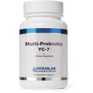 Пробиотики и пребиотики для женщин, Multi-Probiotic YC-7, Douglas Laboratories, 60 капсул