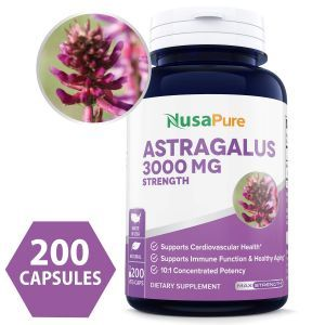 Астрагал, Astragalus, NusaPure, 3000 мг, 200 вегетарианских капсул