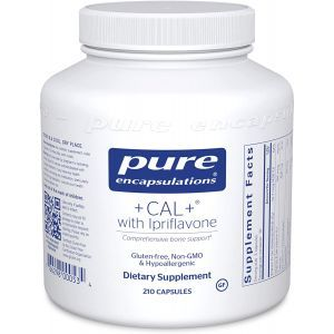 Формула против остеопороза, +CAL+ with Ipriflavone, Pure Encapsulations, 210 капсул