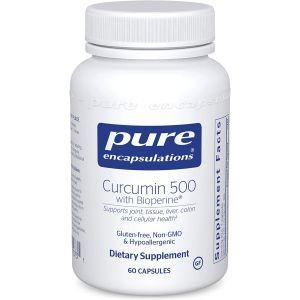 Куркумин с Bioperine®, Curcumin with Bioperine® , Pure Encapsulations, 500 мг, 60 капсул