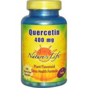 Кверцетин, Quercetin, Nature's Life, 400 мг, 100 вегетарианских капсул