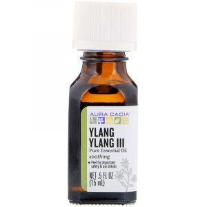 Эфирное масло иланг-иланг III, Essential Oil Ylang Ylang, Aura Cacia, чувственное, 15 мл (Default)