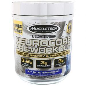 Предтренировочный комплекс, Neurocore Pre-Workout, Muscletech, Pro Series, голубая малина, 229 г