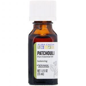 Эфирное масло пачули (Patchouli), Aura Cacia, 100% чистое, 15 мл (Default)