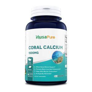Коралловый кальций, Coral Calcium, NusaPure, 1500 мг, 200 капсул
