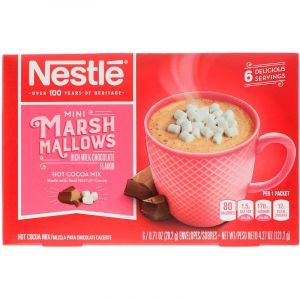 Какао с кусочками зефира, Mini Marshmallows, Nestle Hot Cocoa Mix, 6 пакетов, по 20,2 г (Default)
