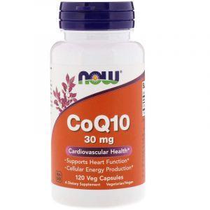 Коэнзим Q10, CoQ10, Now Foods, 30 мг, 120 капсул