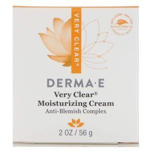 Осветляющий крем анти-пятна, Very Clear Moisturizer, Derma E, (56 г)