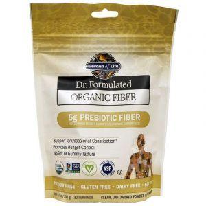 Клетчатка пребиотическая, Organic Fiber, Garden of Life, Dr. Formulated, органик, порошок, 192 г