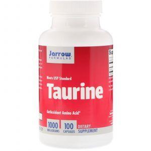 Таурин, Taurine, Jarrow Formulas, 1000 мг, 100 капсул (Default)