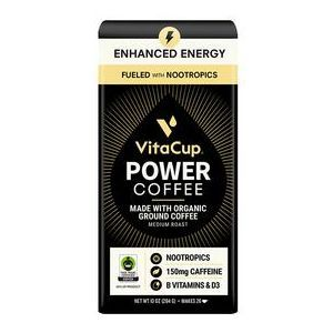 Кофе с ноотропиками, Ground Coffee, VitaCup, органик, порошок, 286 г