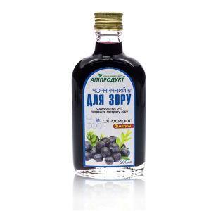 """Фитосироп с медом """"Черничный для зрения"""", Phyto Syrup with honey, Апипродукт, 200 мл."""