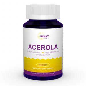 Ацерола, Acerola, Sunny Caps, 500 мг, 60 таблеток