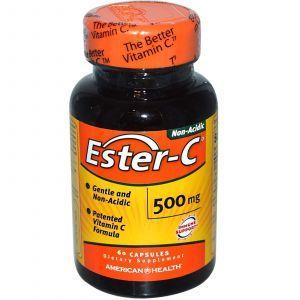 Эстер С, Ester-C, American Health, 500 мг, 60 капсул