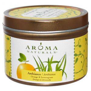 Свеча  с ароматом апельсина и лимонника, Aroma Naturals, 79,38 г