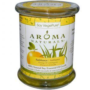 Свеча с эфирным маслом апельсина и лимона,Aroma Naturals, 260 г
