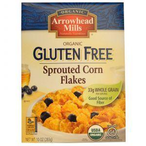 Хлопья из проросшей кукурузы, Corn Flakes, органик, Arrowhead Mills, 283 г