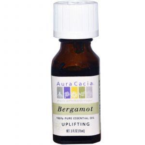 Органически чистое масло бергамота, Aura Cacia, 15 мл
