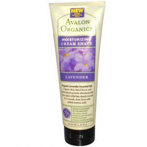 Крем для бритья (лаванда), Avalon Organics, 227 мл