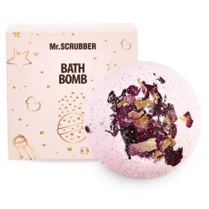 Бомбочка для ванн Роза, Bath bombs, Mr. Scrubber, в подарочной коробке, 200 г