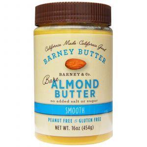 Миндальное масло без добавок, Bare Almond Butter, Barney Butter, 454 г.