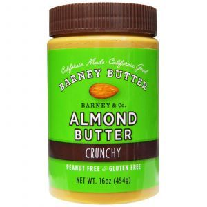 Хрустящее миндальное масло, Almond Butter, Barney Butter, 454 г.