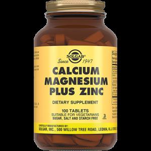 Кальций магний цинк (Calcium Magnesium), Solgar, 100 таблеток