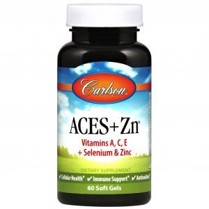 Витамины А, С, Е плюс цинк, Aces + Zn, Carlson Labs, 60 капсул