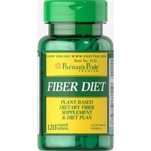 Пищевые волокна, Fiber Diet, Puritan's Pride, 120 таблеток