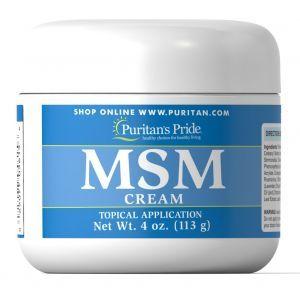 Крем с МСМ (метилсульфонилметаном), MSM Cream, Puritan's Pride, 113 мл