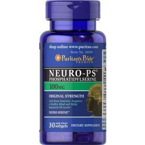 Фосфатидилсерин, Neuro-PS, Puritan's Pride, 100 мг, 30 гелевых капсул