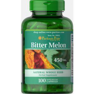 Горькая дыня, Bitter Melon, Puritan's Pride, 450 мг, 100 капсул
