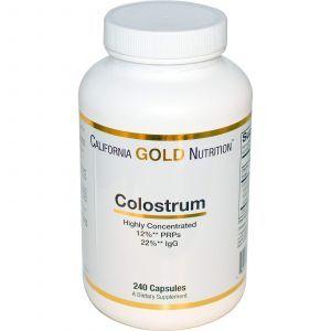 Молозиво, California Gold Nutrition, 240 капсул.