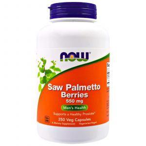 Со Пальметто, Saw Palmetto, Now Foods, экстракт, 550 мг, 250 ка