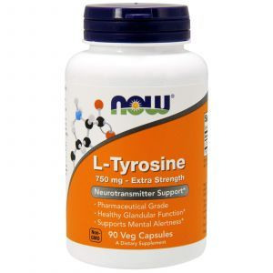 Тирозин, L-Tyrosine, Now Foods, 750 мг, 90 кап
