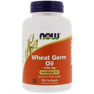 Масло зародышей пшеницы, Wheat Germ Oil, Now Foods, 1130 мг, 100 к
