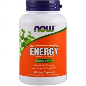 Энергия, Energy, Metabolic Energy and Adrenal Support, Now Foods, 90 капсул