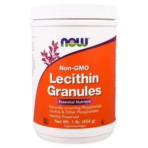 Лецитин в гранулах, Lecithin Granules, Now Foods, без ГМО, 454